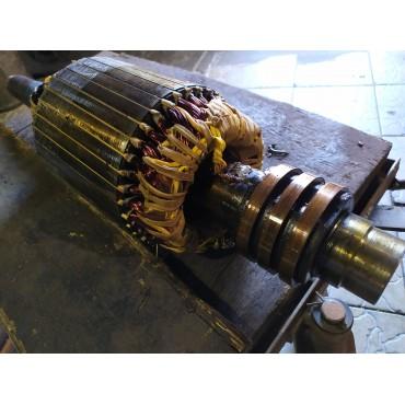 Ремонт якоря крановых электродвигателей с заменой графитовых щёток
