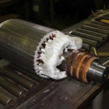 Восстановление посадочных мест под подшипник электродвигателя 4A160S6