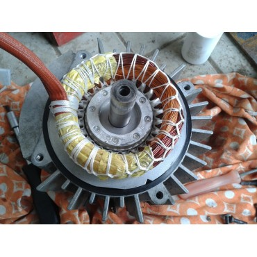 Восстановление посадочных мест под подшипник электродвигателя 4A225M8